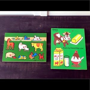 Vintage Kids Wooden Puzzles